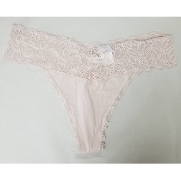 Auden Other - auden Soft Petal Pink Micro Thong Lace